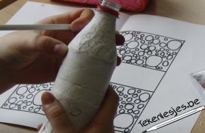 tekenen op flesje