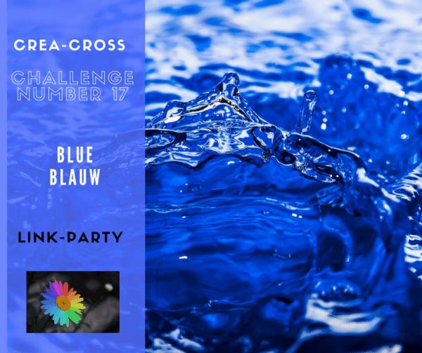 zee afdrukken voor crea-cross blauw