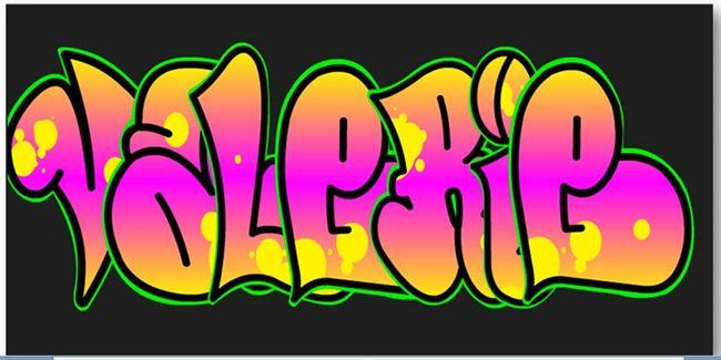 graffiti letters ontwerp in de klas