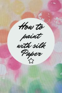 paint with silk paper