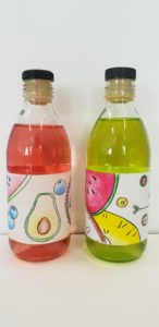 smoothie etiket ontwerpen met kleurpotlood