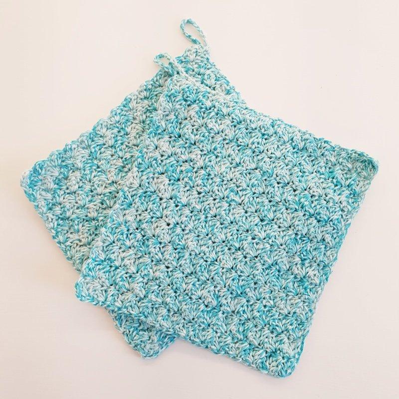 pannenlappen met blanket stitch