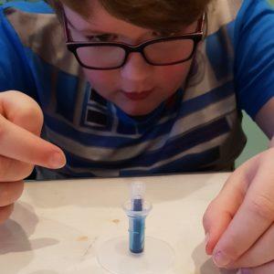 Vilt absorbeert de inkt: crayola mini marker maker