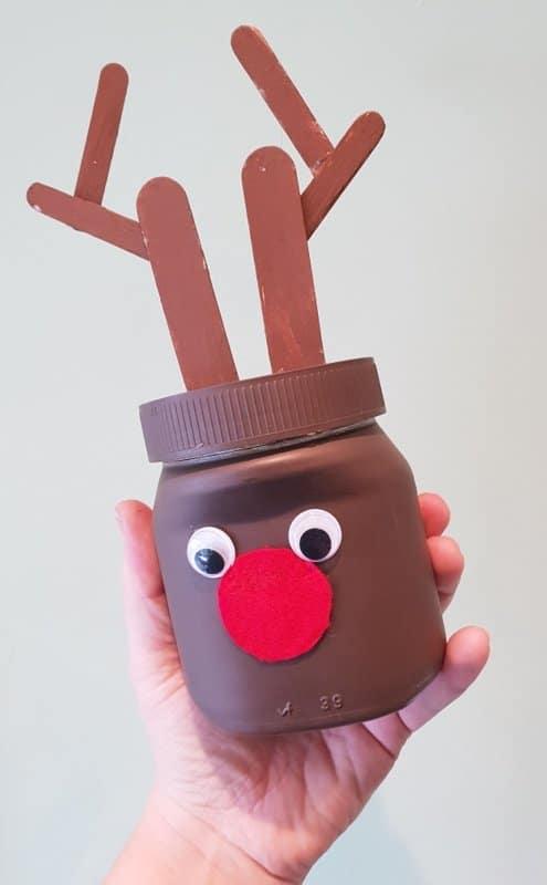 Knutselen met Nutella potten