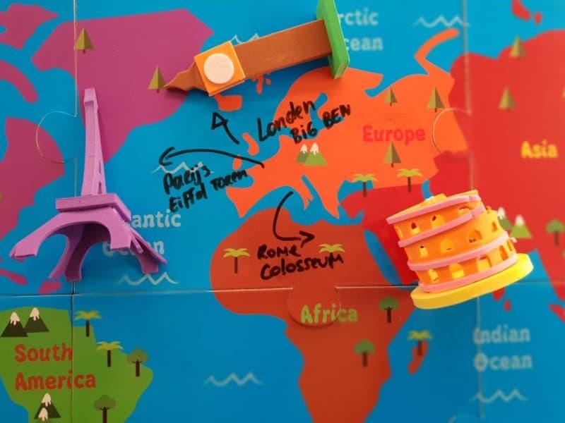 Monumenten op de wereldkaart leren plaatsen - educatief