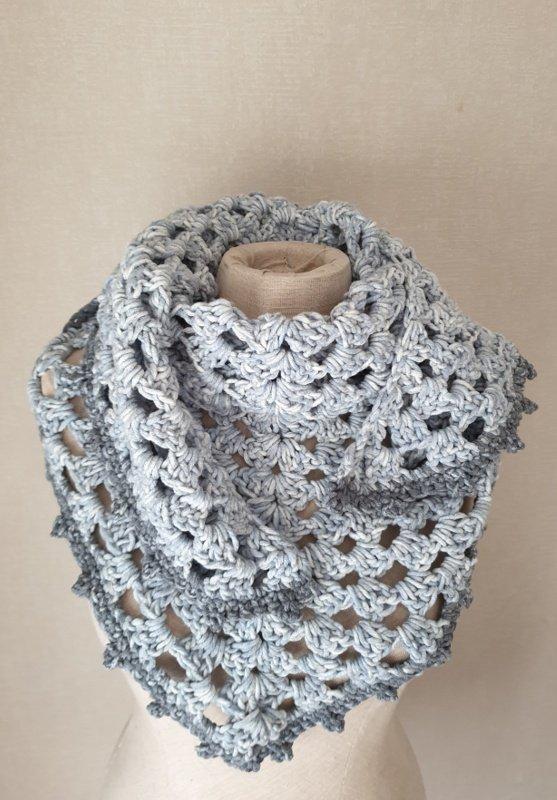 granny sjaal met dik garen