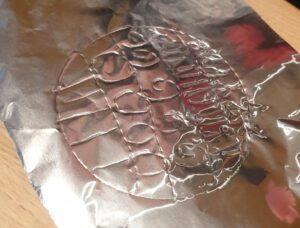 aluminium kerstbal met patronen