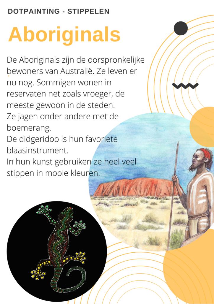 eerste blad werkbladen aboriginals