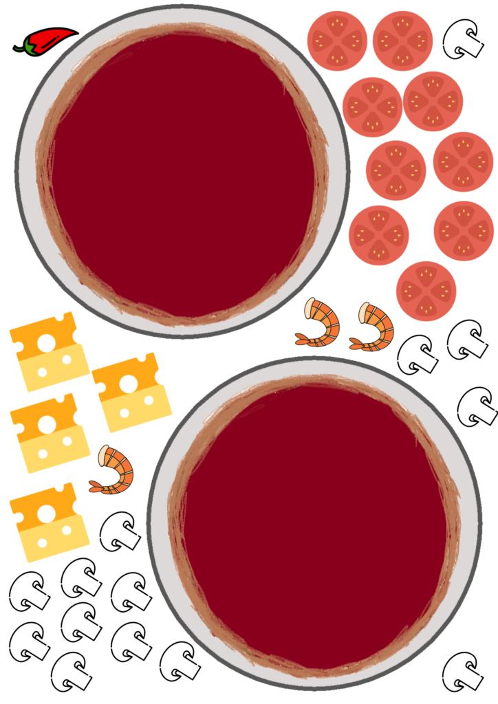 Pizza printable deel 3