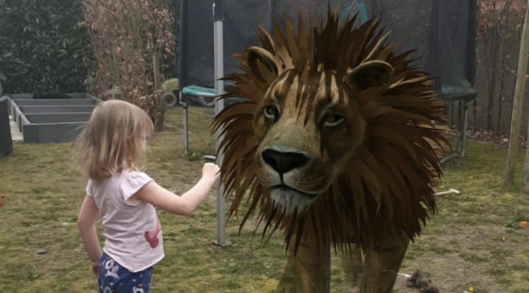3D dieren in de tuin