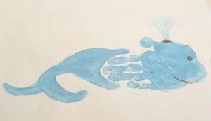 Walvis stempelen met je hand